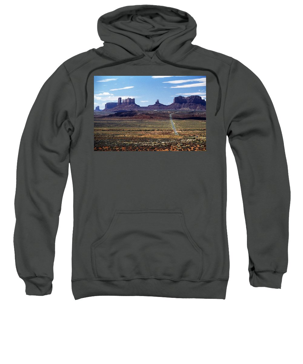 Barren Sweatshirt featuring the photograph Utah, Usa Highway And Rock Formations by John Doornkamp