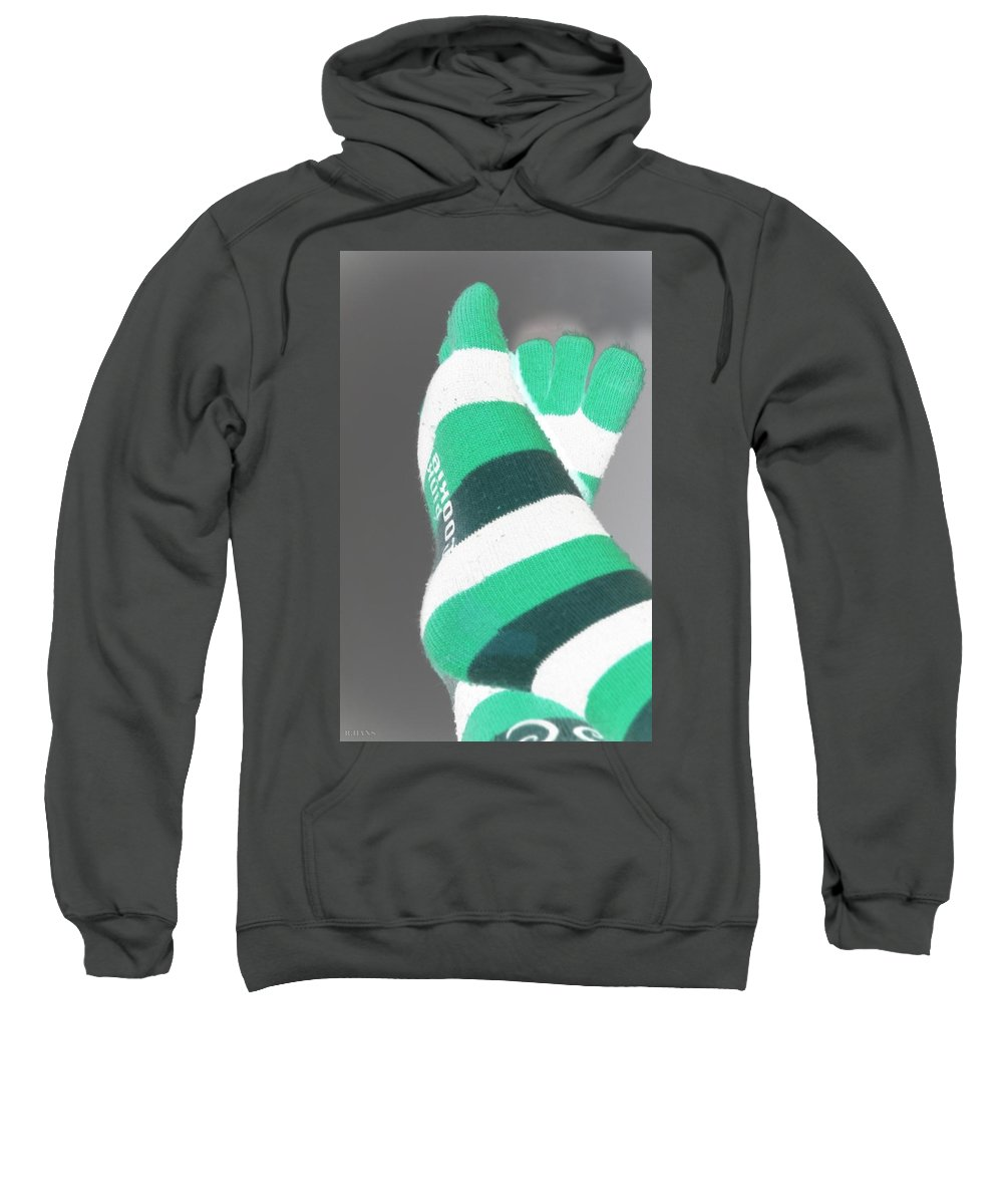 Feet Sweatshirt featuring the photograph Val's Feet In Negative by Rob Hans