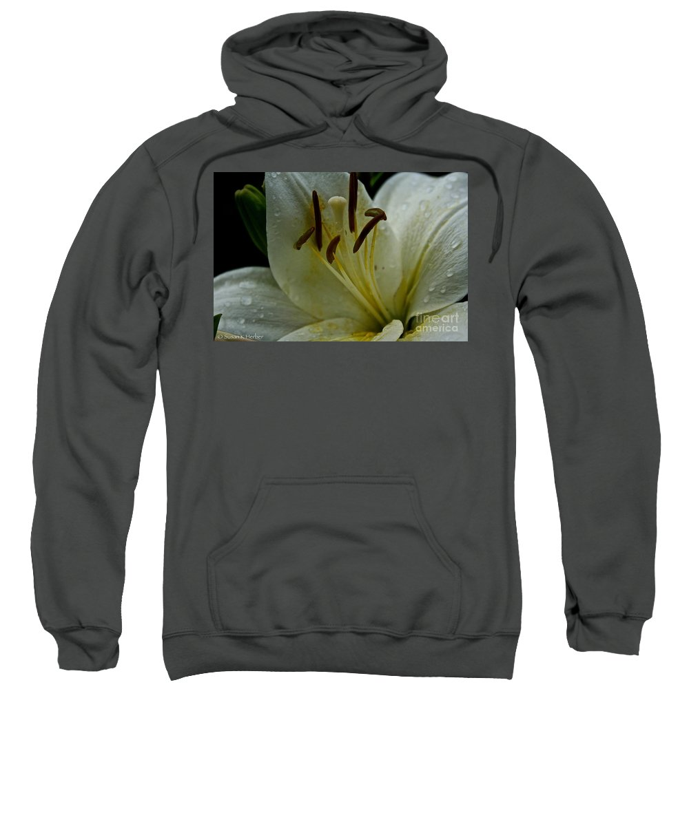 Floral Sweatshirt featuring the photograph Vanilla Ice by Susan Herber