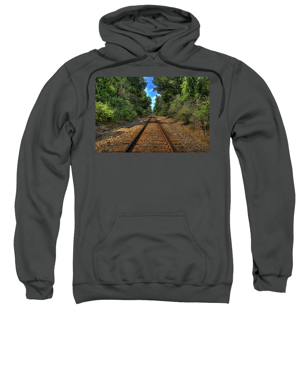 Train Sweatshirt featuring the photograph Vanishing Point by Scott Wood
