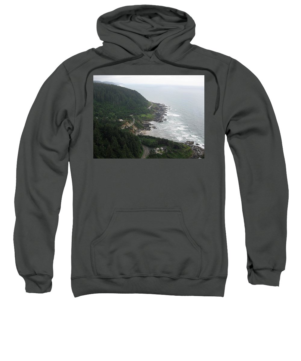 Cape Sweatshirt featuring the photograph View From Cape Perpetua 2 by Linda Hutchins