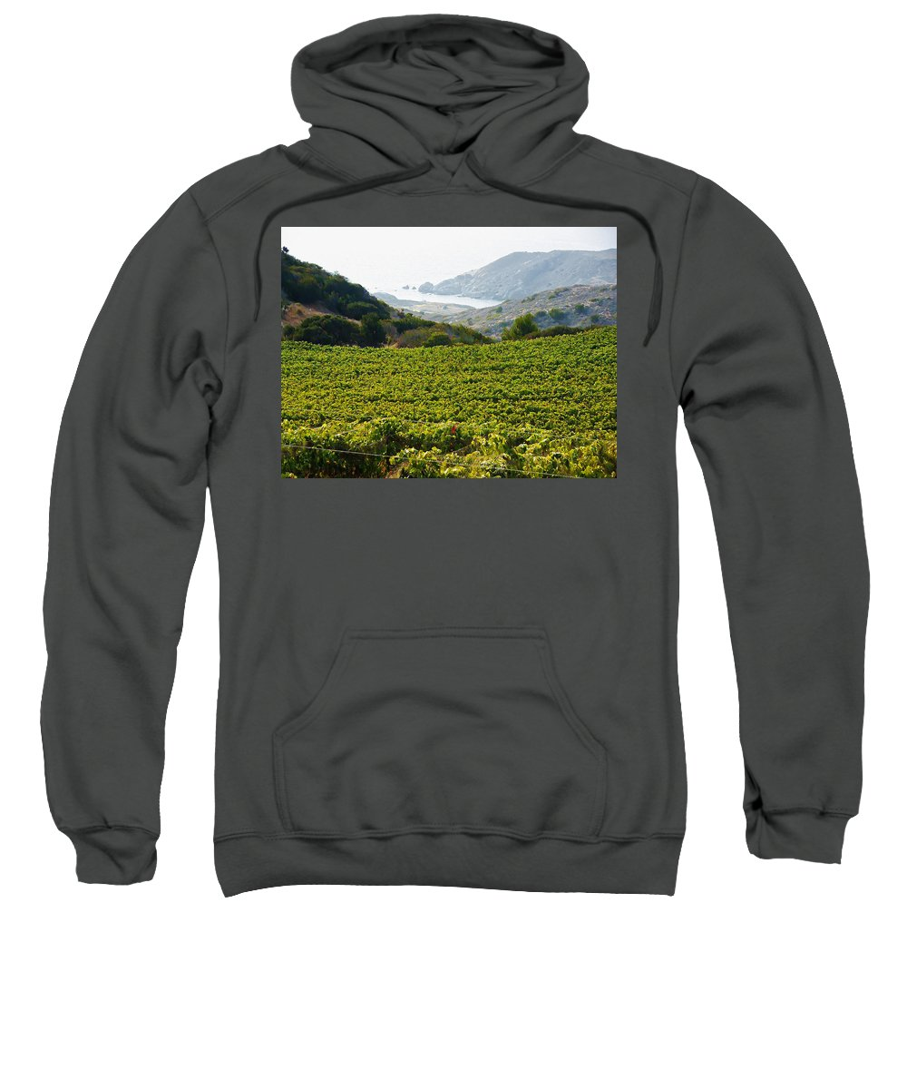 View From Catalina Island Sweatshirt featuring the photograph View From Catalina Island by Bill Cannon