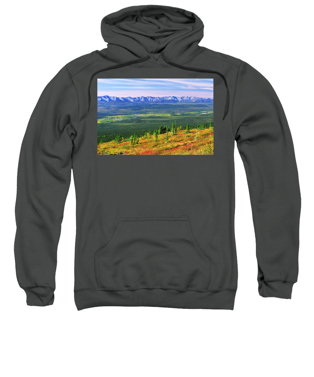 Light Sweatshirt featuring the photograph View From Ogilvie Ridge Lookout by Robert Postma