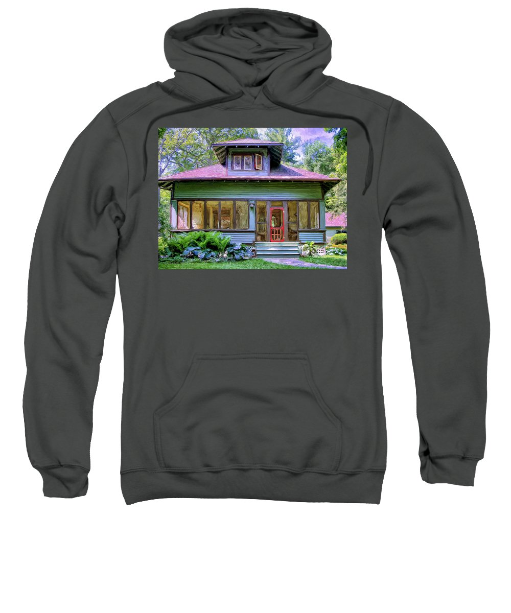 Vintage Sweatshirt featuring the painting Vintage Craftsman by Dominic Piperata