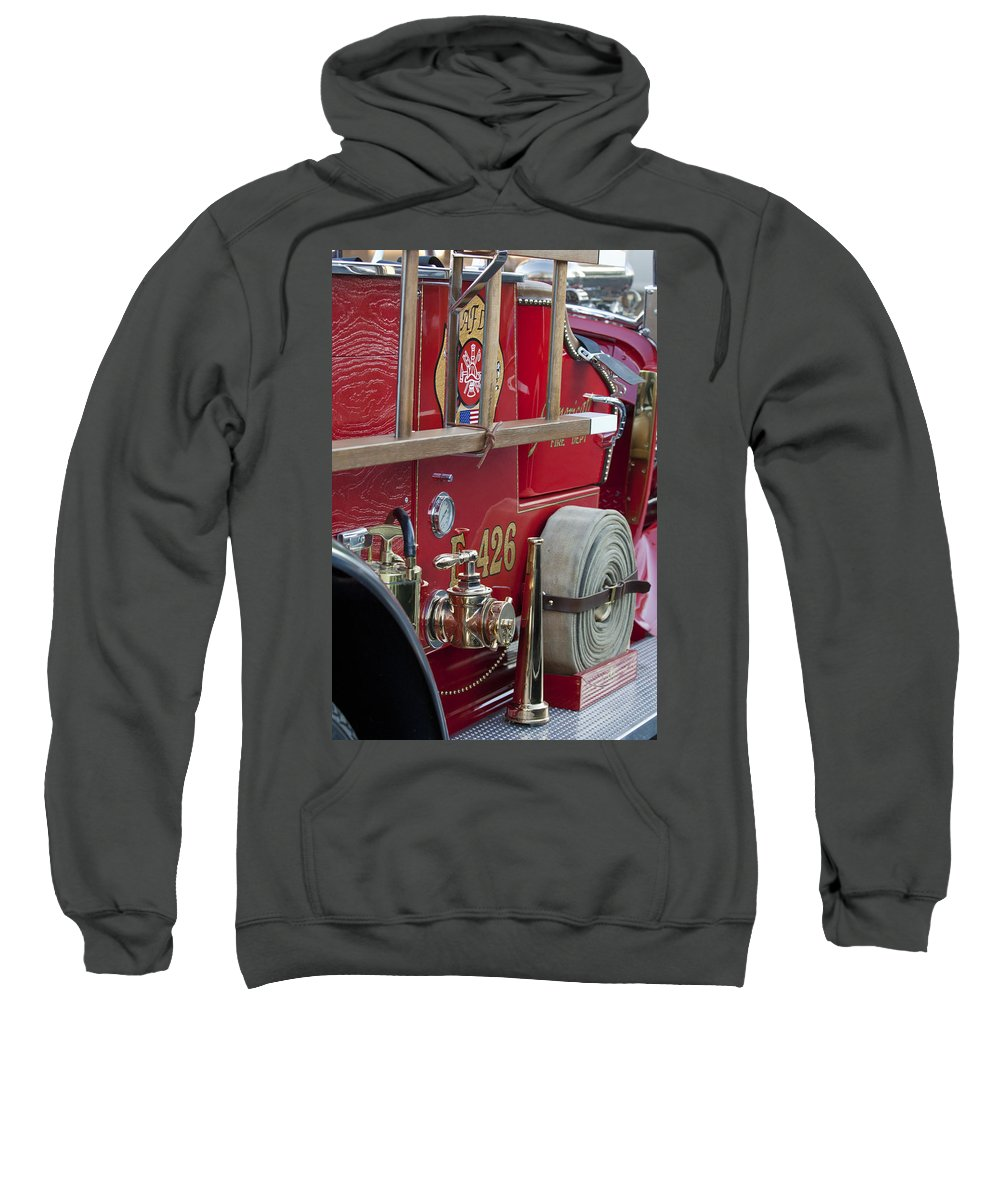 Vintage Fire Truck Sweatshirt featuring the photograph Vintage Fire Truck 2 by Jill Reger