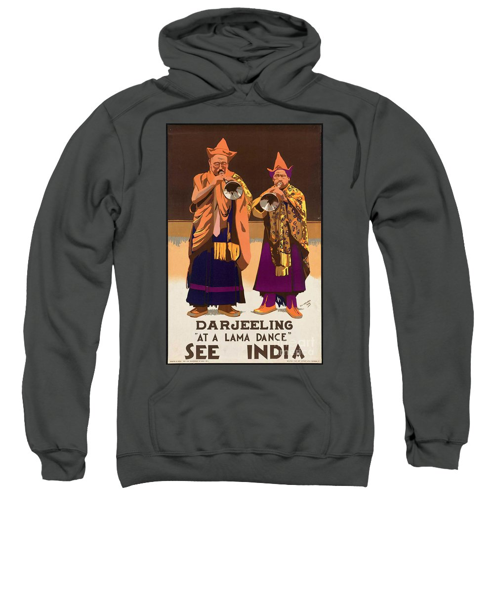 India Sweatshirt featuring the photograph Vintage India Travel Poster by George Pedro