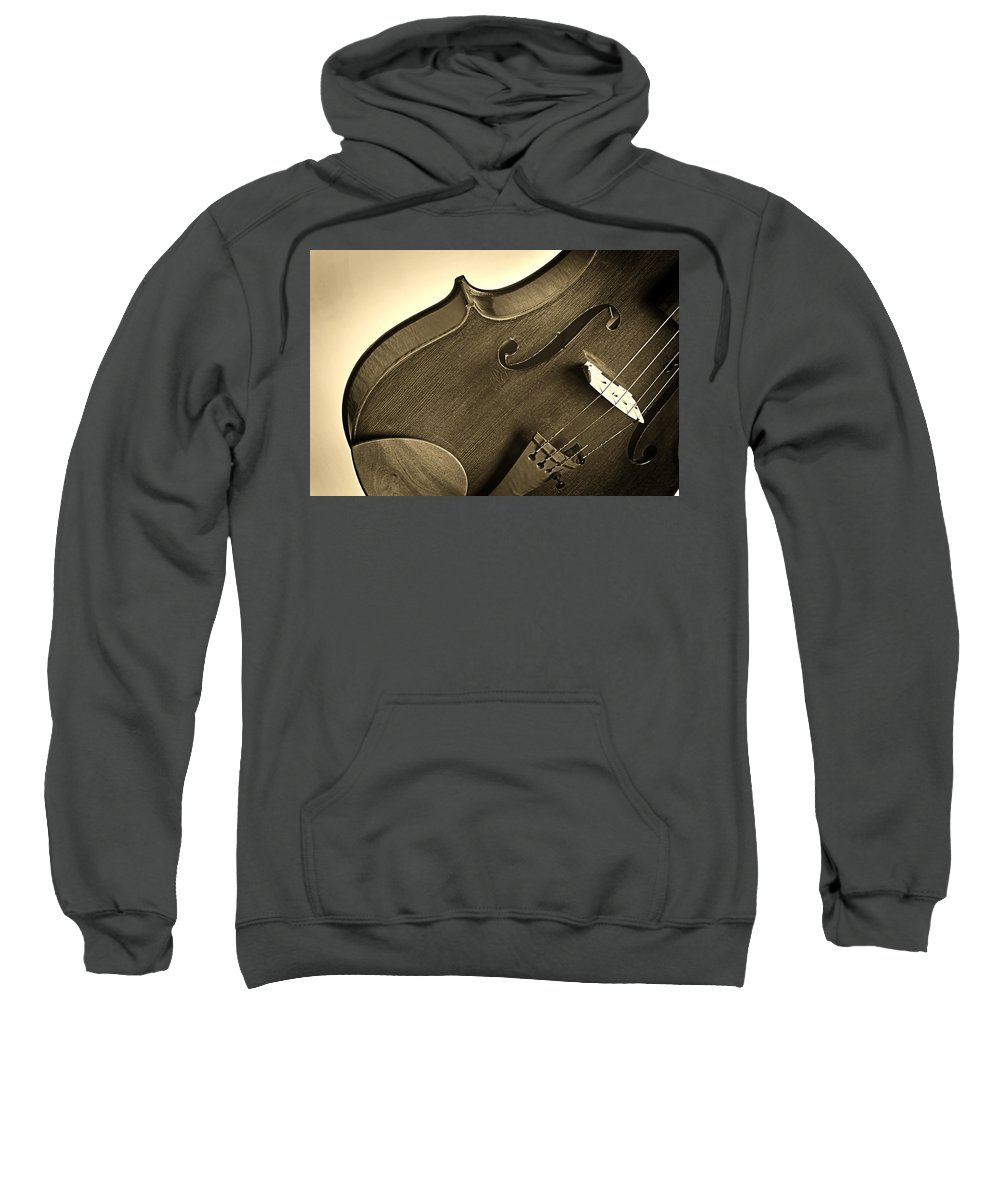 Violin Sweatshirt featuring the photograph Violin Isolated by M K Miller
