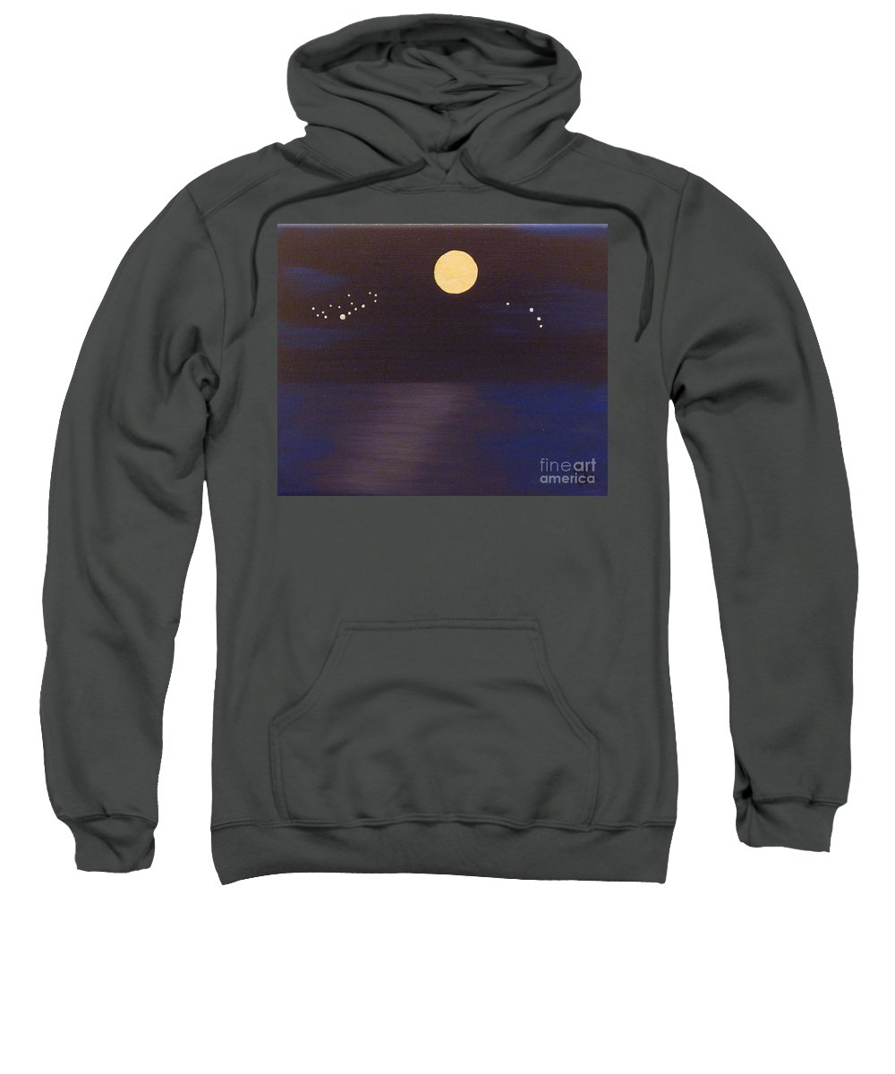 Stars Sweatshirt featuring the painting Virgo And Aries by Alys Caviness-Gober