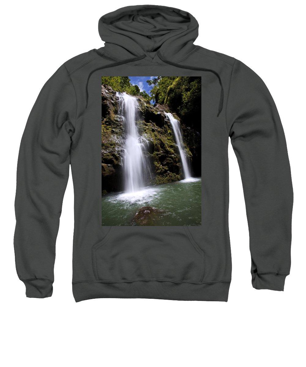 Beauty Sweatshirt featuring the photograph Waikani Falls And Pond by Jenna Szerlag