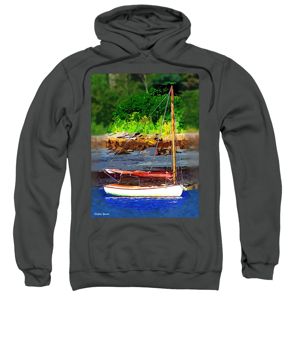Sail Sweatshirt featuring the digital art Waiting To Sail by Stephen Younts