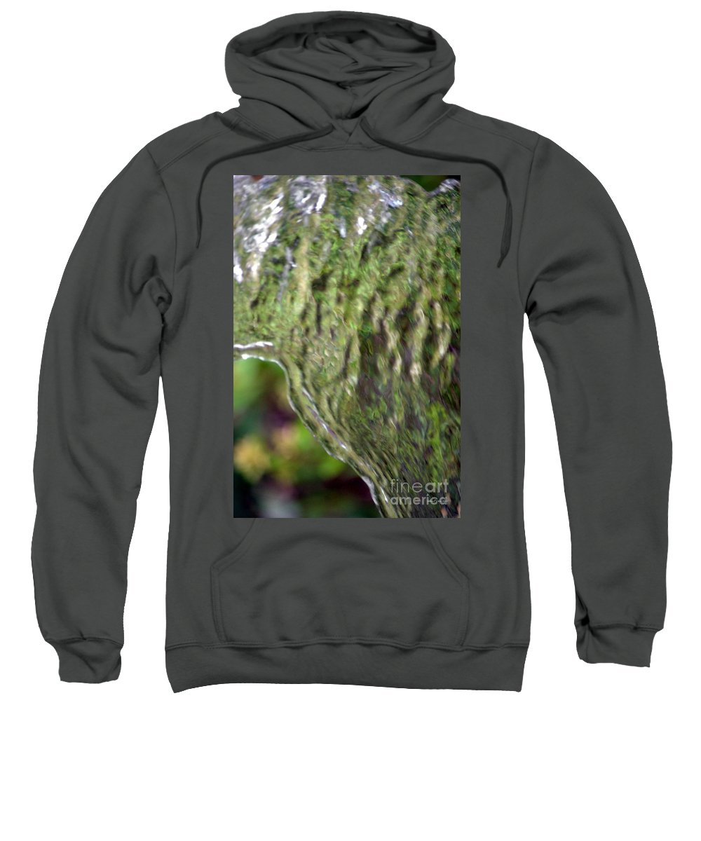 Wall Of Water Abstract Sweatshirt featuring the photograph Wall Of Water Abstract by Maria Urso