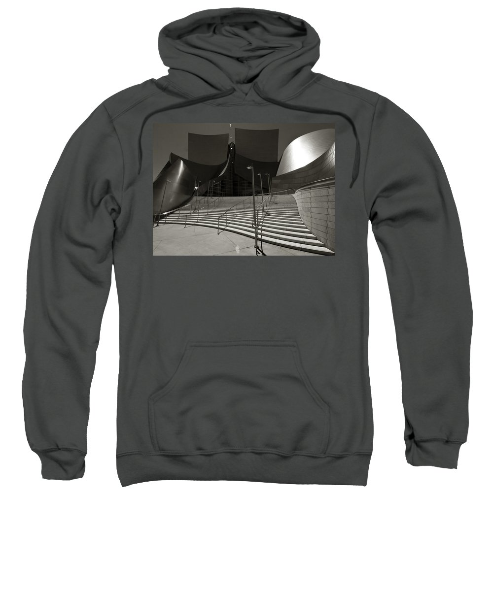 Aurica Voss Sweatshirt featuring the photograph Walt Disney Concert Hall by Aurica Voss