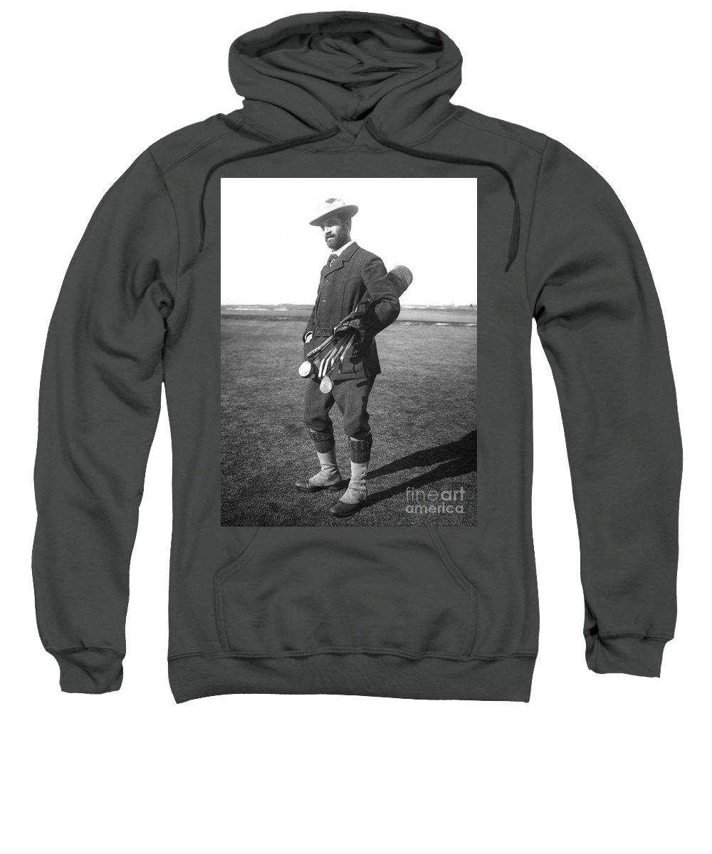 1910 Sweatshirt featuring the photograph Walter Travis (1862-1927) by Granger