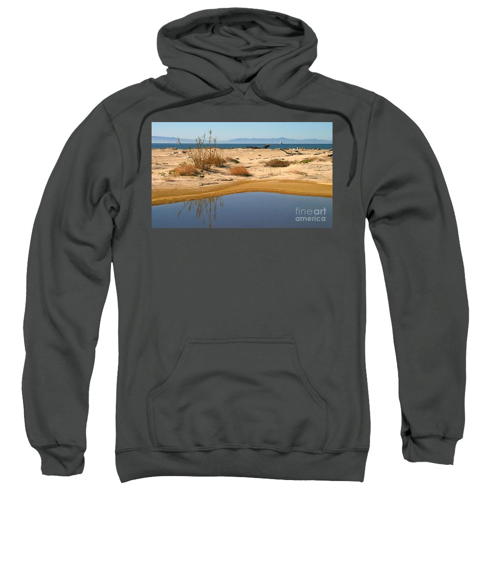 Blue Sweatshirt featuring the photograph Water By The Ocean by Henrik Lehnerer