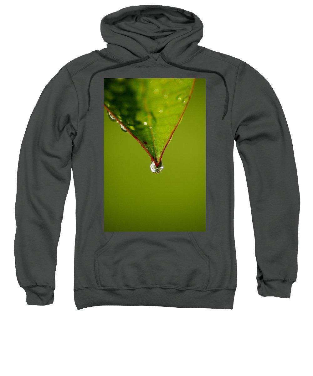 Leaf Sweatshirt featuring the photograph Waterdrop by David Weeks