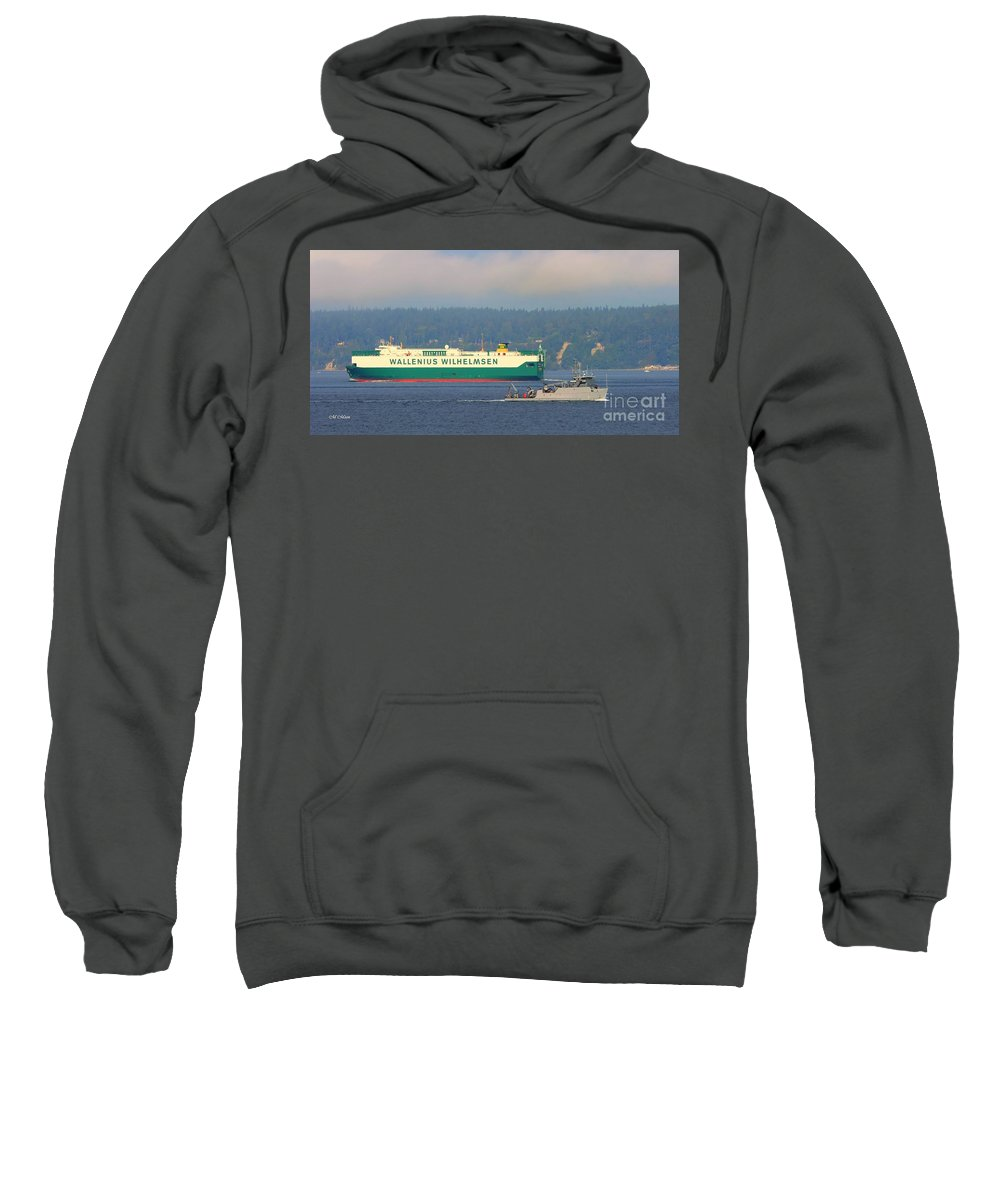 Puget Sound Sweatshirt featuring the photograph Waterway by Tap On Photo