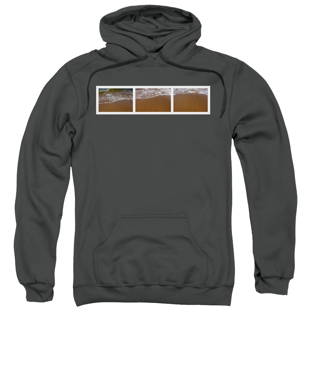Waves Sweatshirt featuring the photograph Waves Triptych by Michelle Calkins