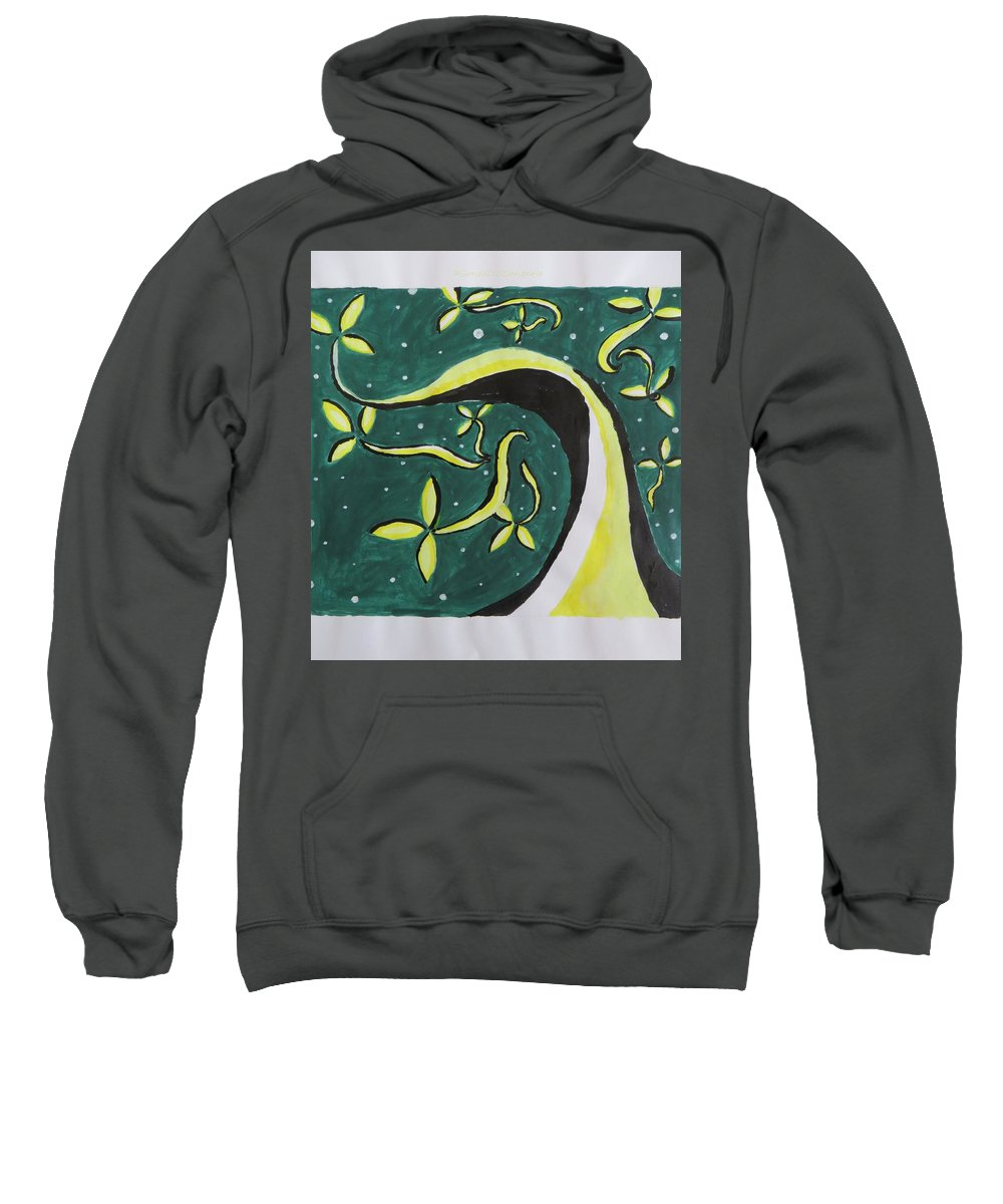 Floral Way Sweatshirt featuring the painting Way by Sonali Gangane