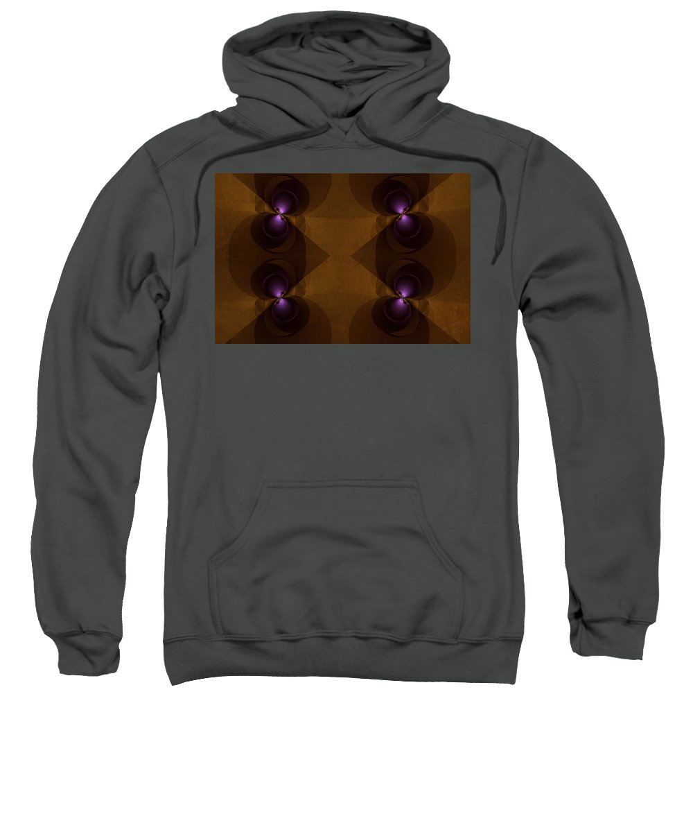 Fractal Sweatshirt featuring the photograph We See Eye-to-eye by Mother Nature