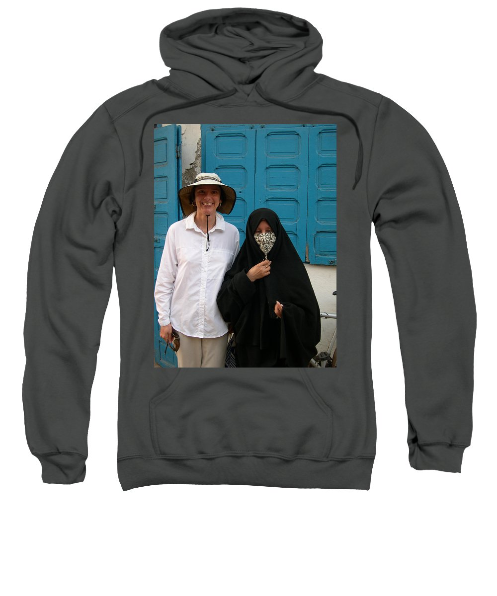 Morocco Sweatshirt featuring the painting West Meets Middleeast by Robert SORENSEN