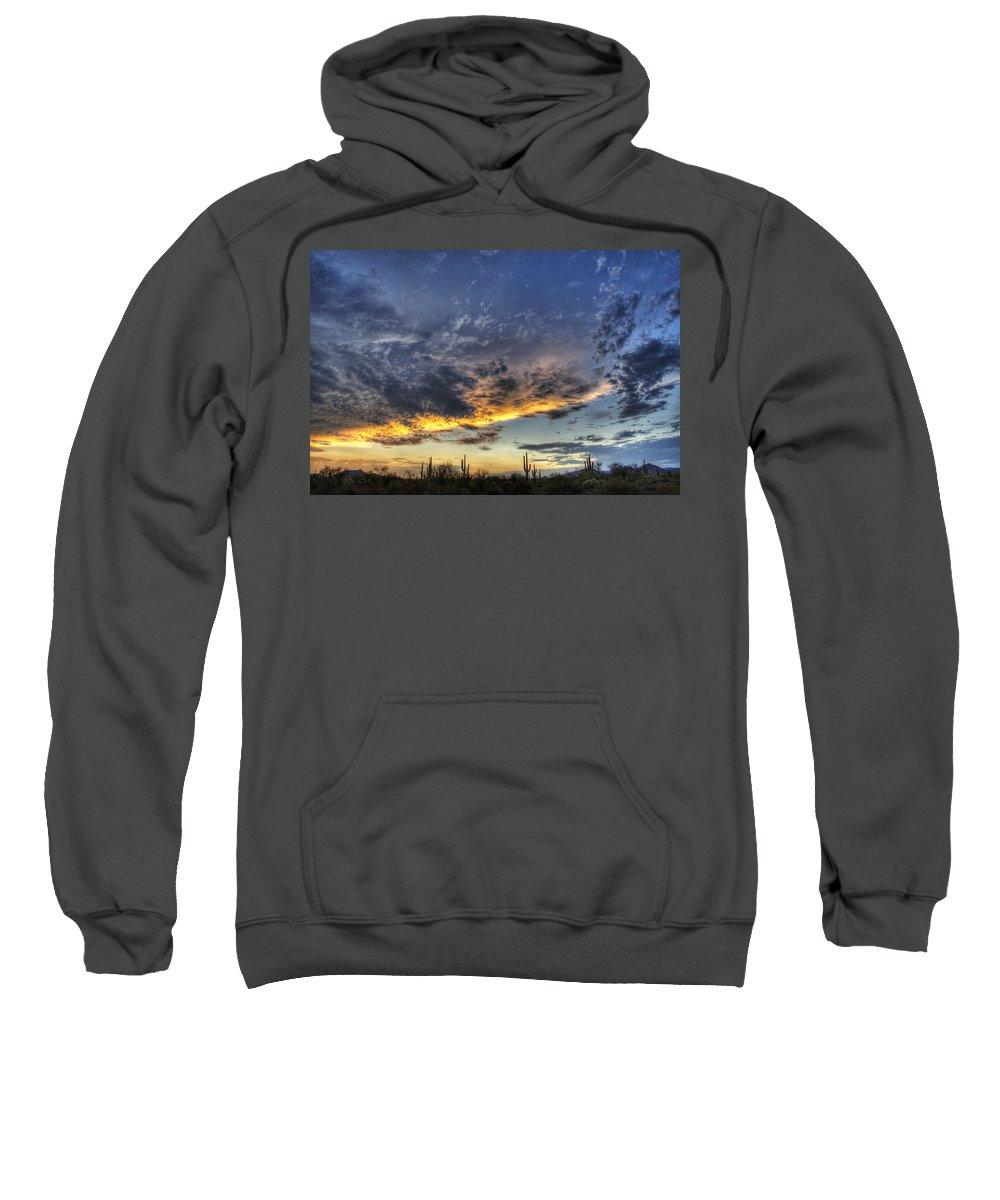 Sunset Sweatshirt featuring the photograph Western Skies by Saija Lehtonen