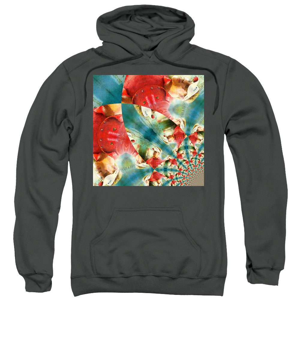 Golf Sweatshirt featuring the painting Westwood Mania by Miki De Goodaboom