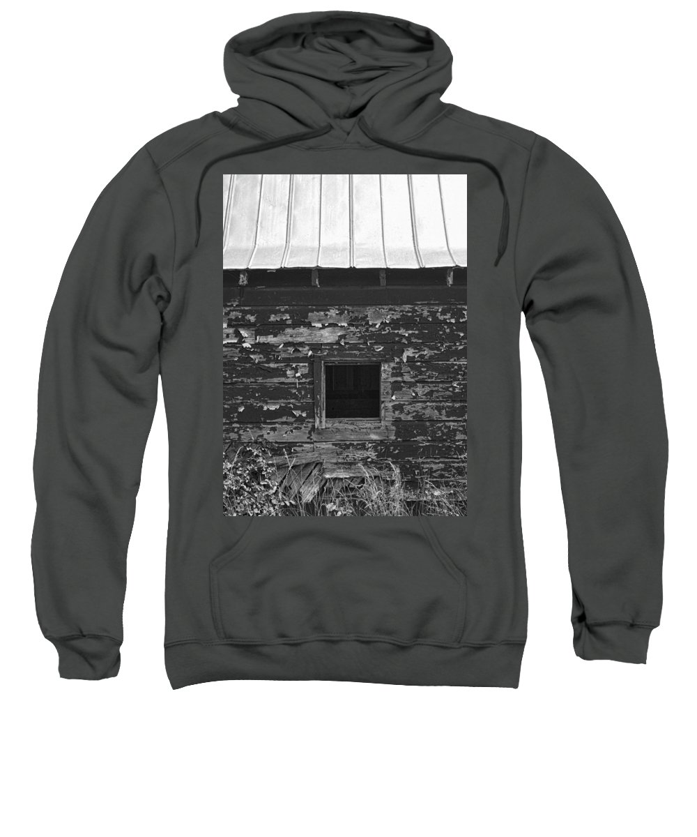 Barn Sweatshirt featuring the photograph What Lies Within by Kathy Clark