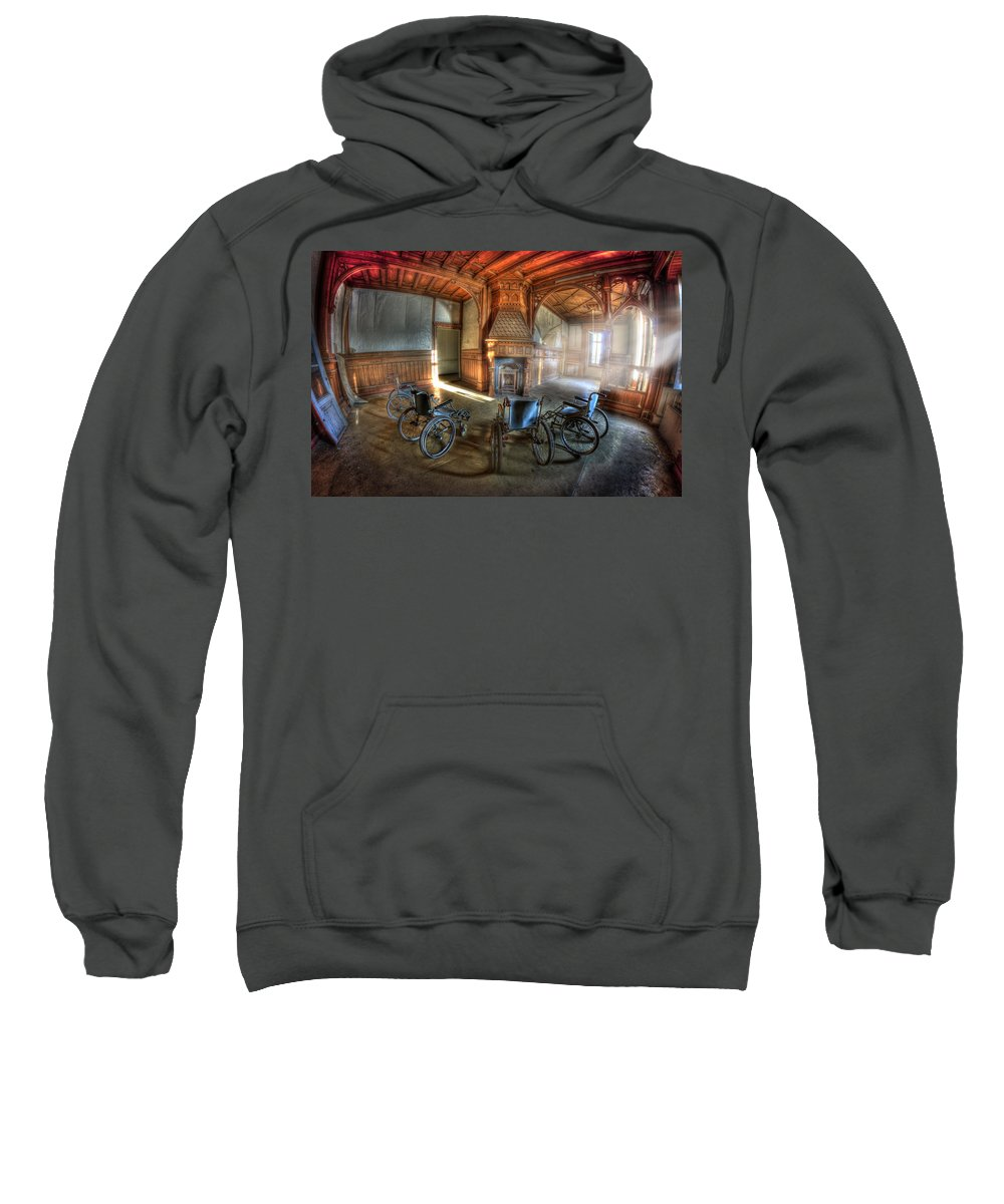 Abandoned Sweatshirt featuring the photograph Wheel Up The Four by Nathan Wright