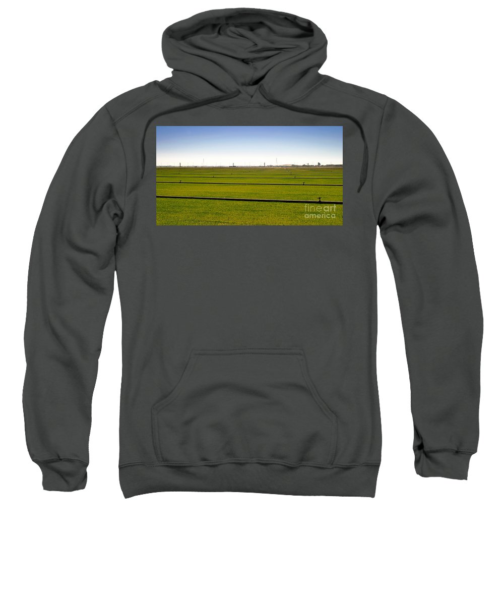 Farm Sweatshirt featuring the photograph Where The Grass Is Growing by Henrik Lehnerer