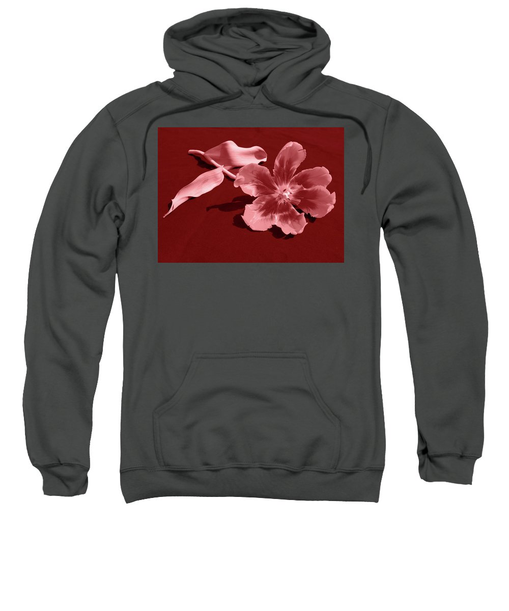 Flower Sweatshirt featuring the photograph Wide Open by Julia Raddatz