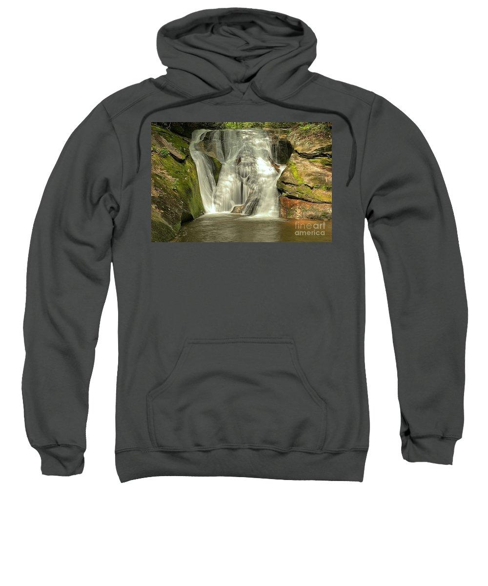 Stone Mountain State Park Sweatshirt featuring the photograph Widows Creek Falls by Adam Jewell