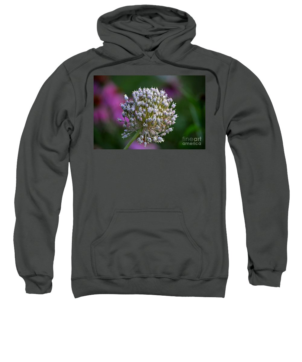 Color Photography Sweatshirt featuring the photograph Wild Garlic by Sue Stefanowicz