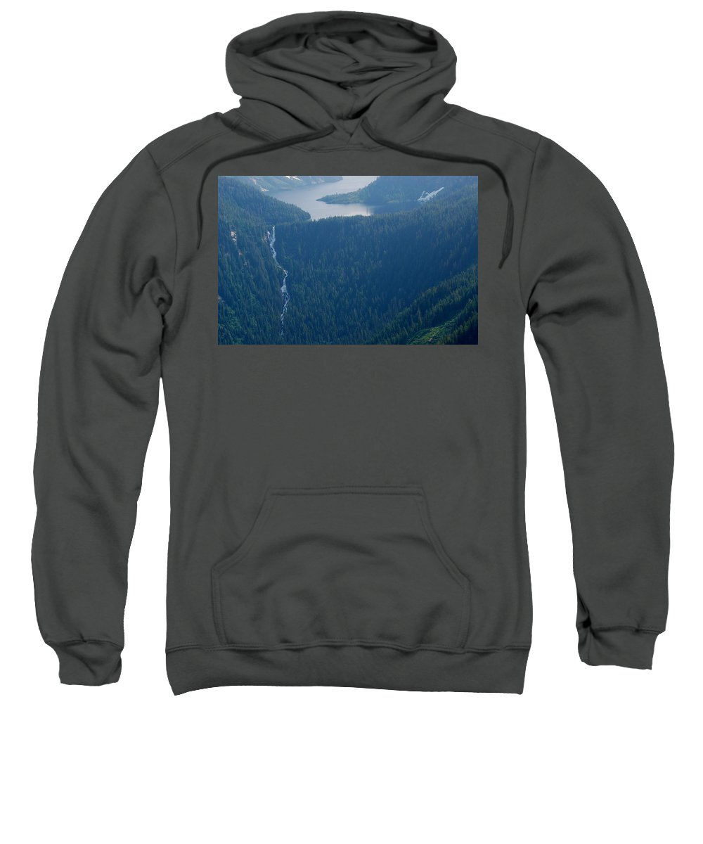 Alaska Sweatshirt featuring the photograph Wilderness Waterfall by Eric Tressler