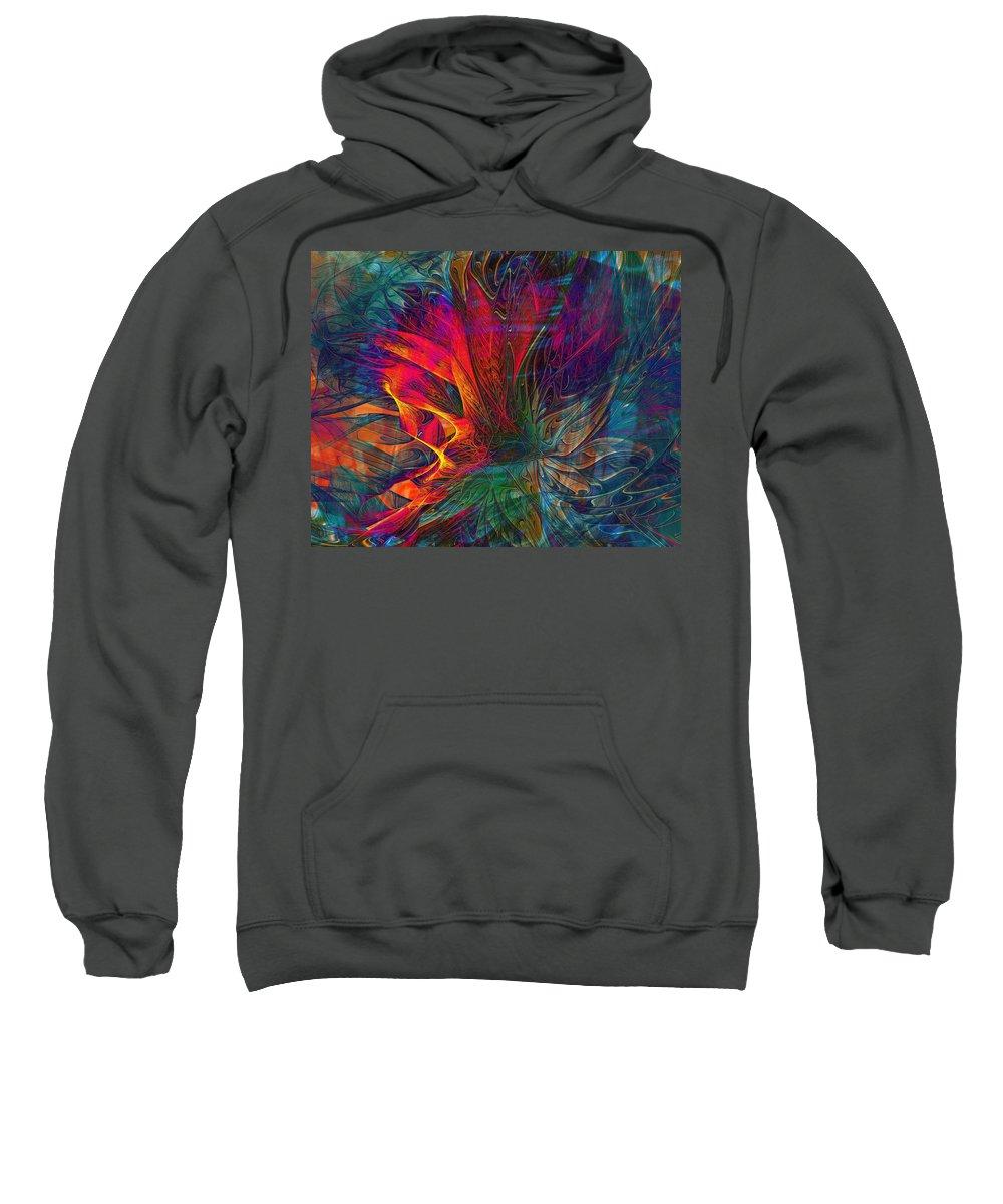 Digital Art Sweatshirt featuring the digital art Wildfire by Amanda Moore