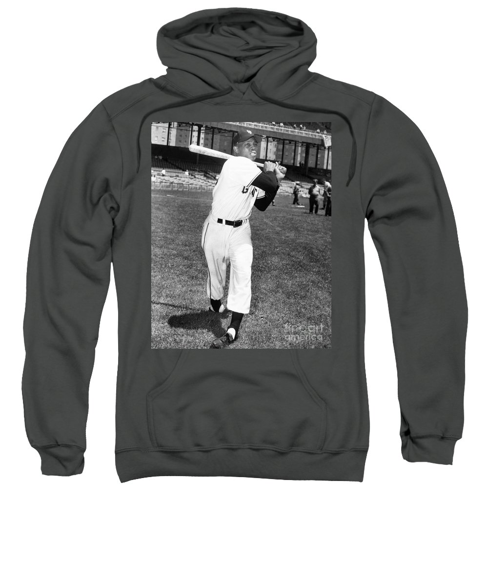 1950s Sweatshirt featuring the photograph Willie Mays (1931- ) by Granger