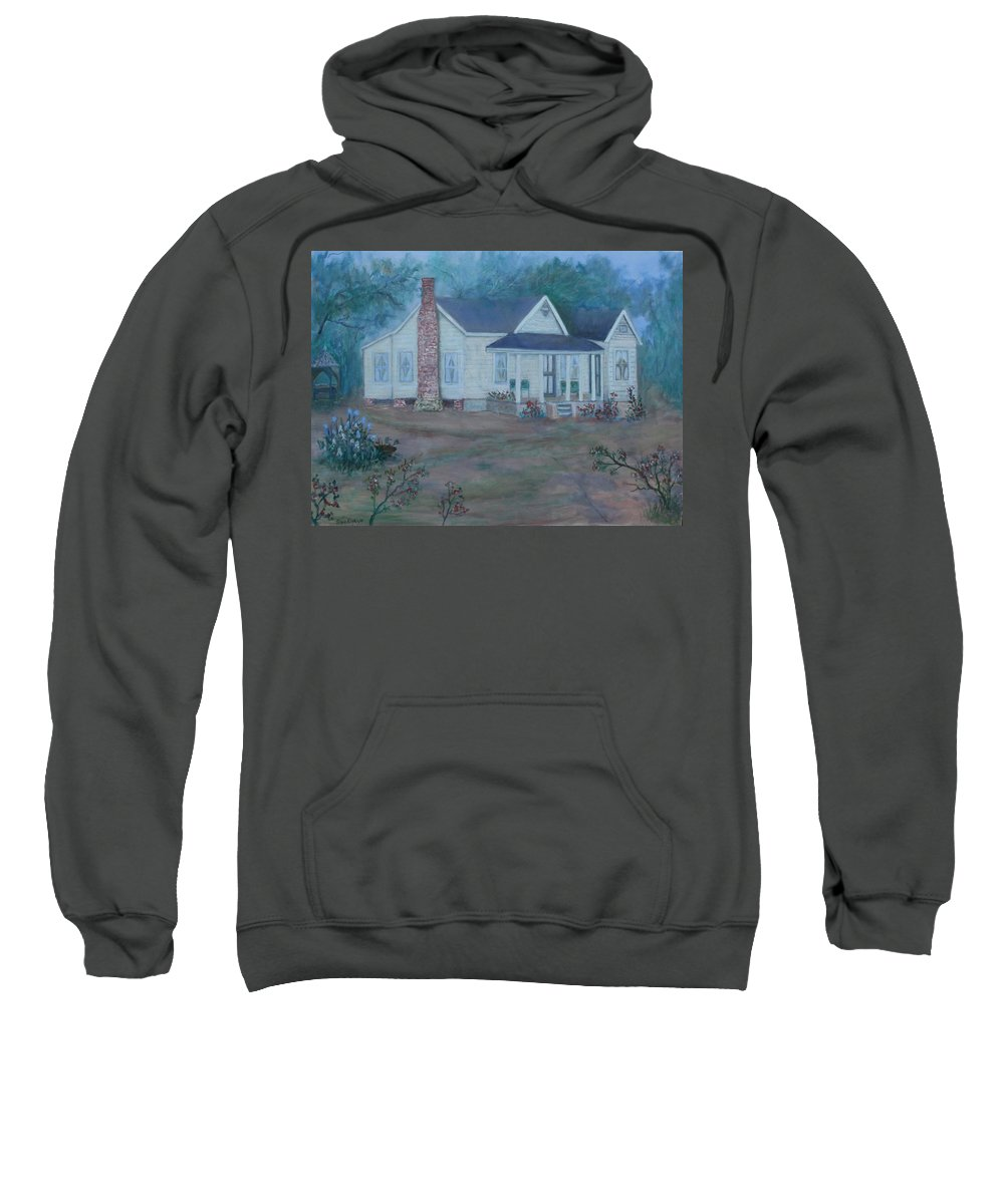 Landscape Sweatshirt featuring the painting Wilson Homestead by Ben Kiger