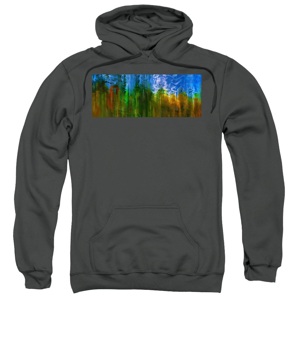 Abstract Sweatshirt featuring the mixed media Windmills In My Mind by Georgiana Romanovna