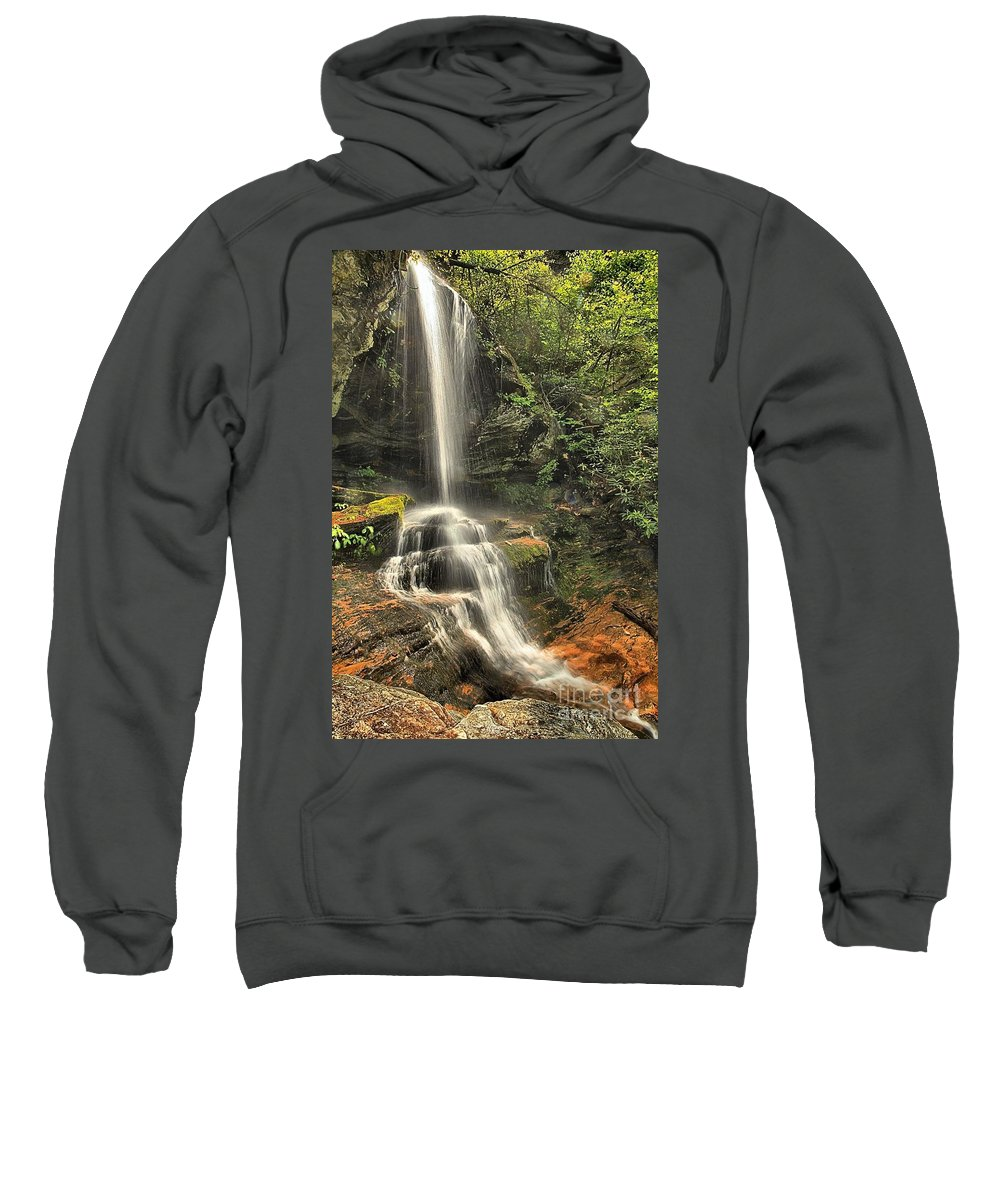 Hanging Rock State Park Sweatshirt featuring the photograph Window Falls by Adam Jewell