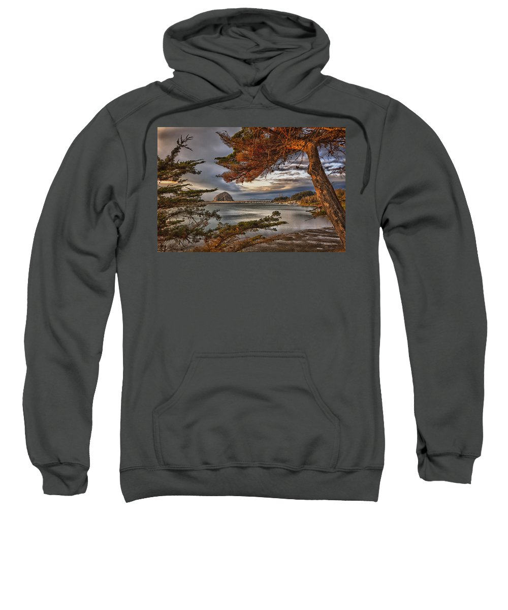 Morro Bay Sweatshirt featuring the photograph Windy Cove by Beth Sargent