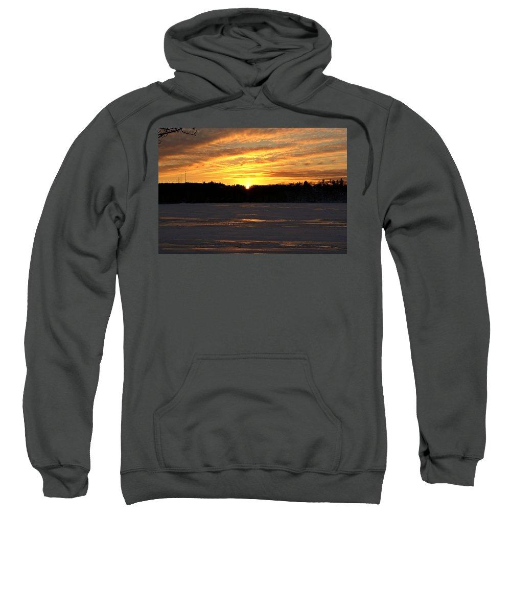 Winter Sweatshirt featuring the photograph Winter Sunset II by Joe Faherty