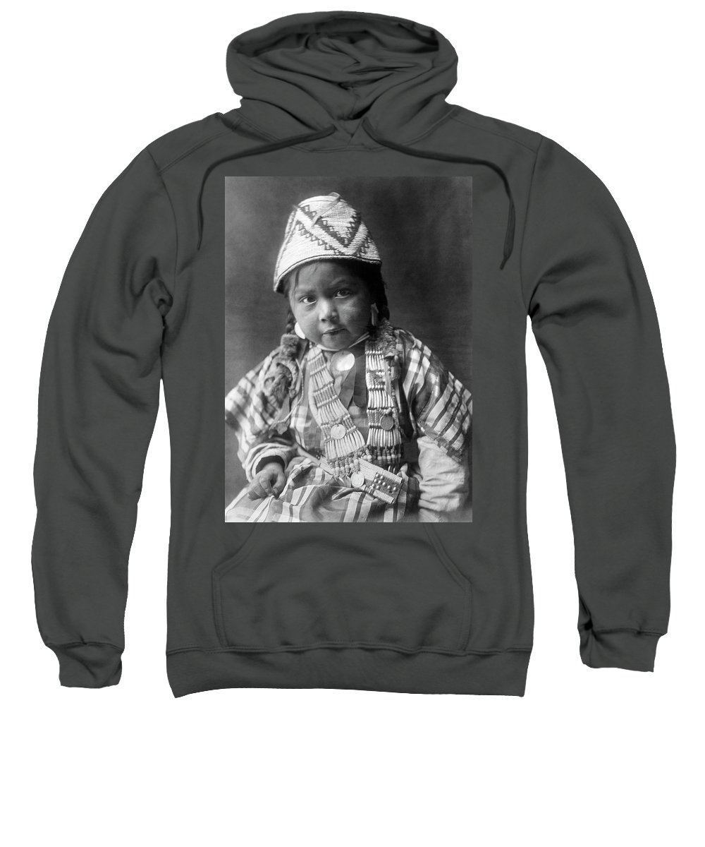 1909 Sweatshirt featuring the photograph Wishram Girl 1909 by Granger