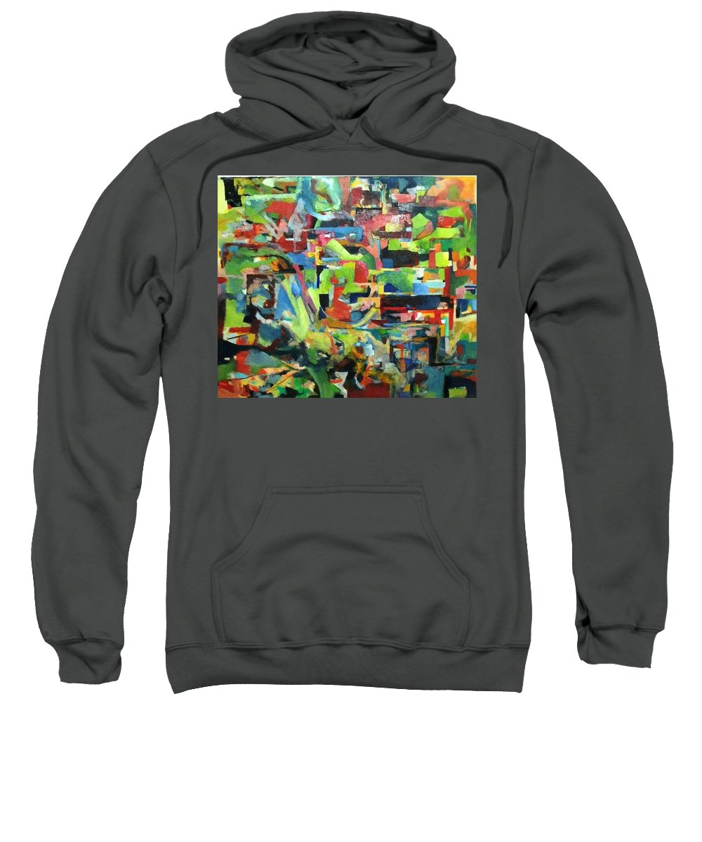 Abstract Art Sweatshirt featuring the painting With Heavenly Assistance by David Baruch Wolk