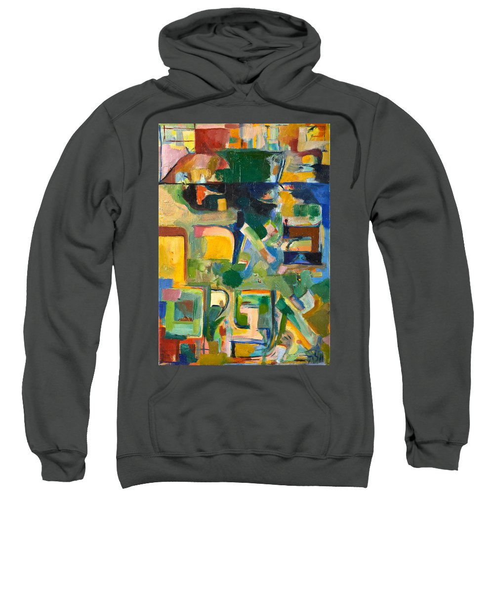 Torah Sweatshirt featuring the painting With Patience by David Baruch Wolk