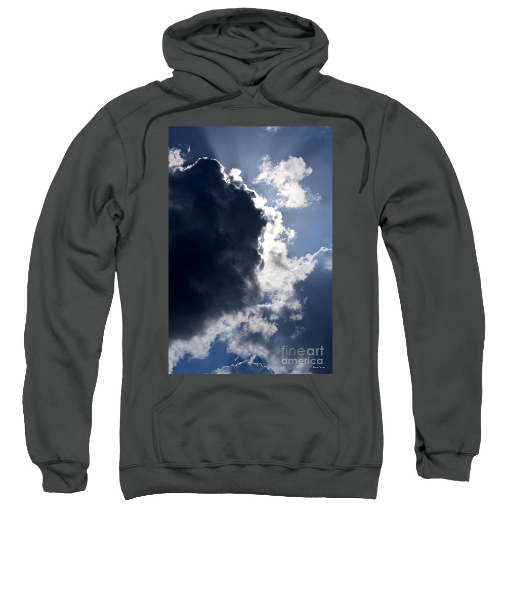 Thunder Sweatshirt featuring the photograph With Thunder He Speaks by Maria Urso