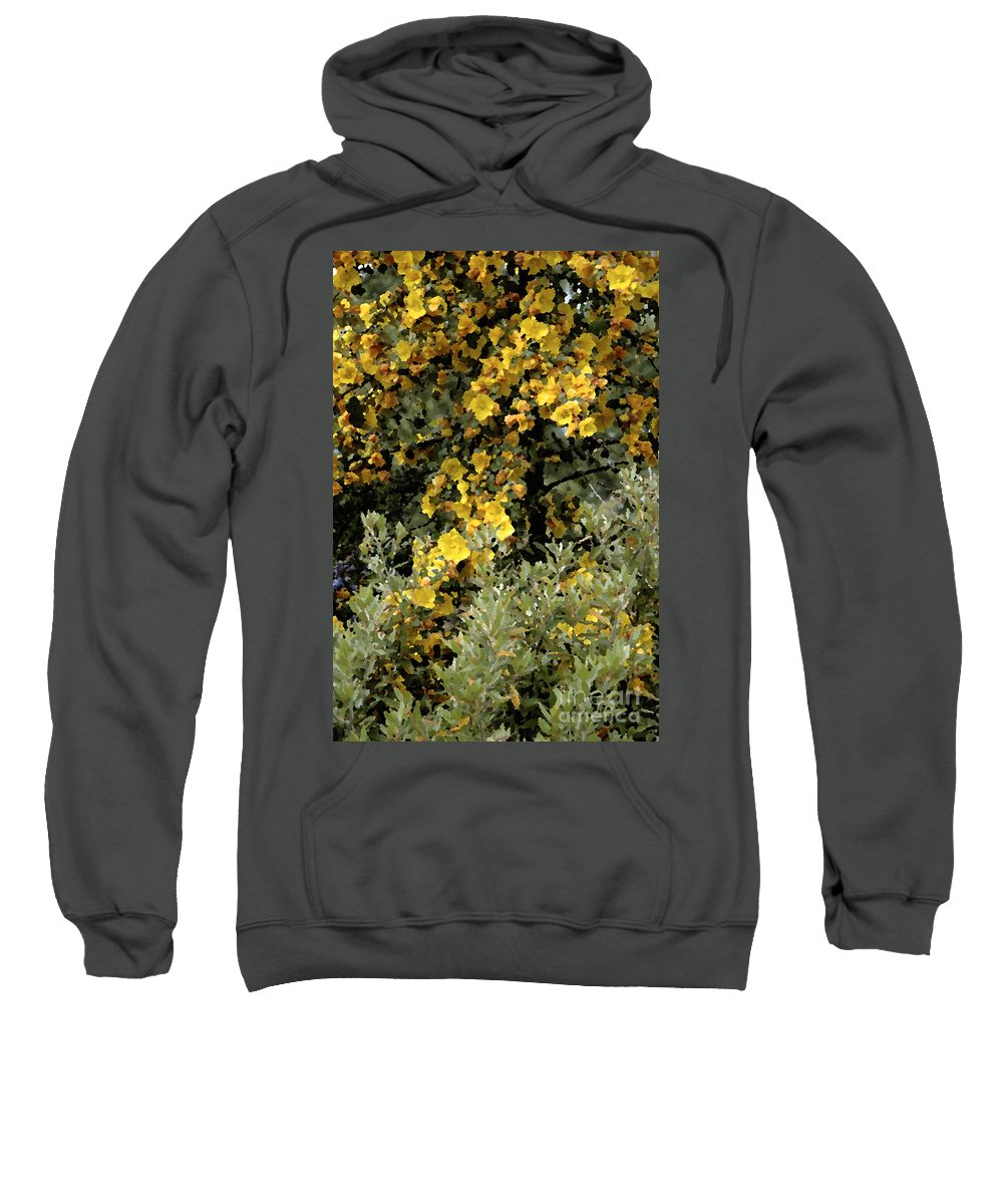 Photo Sweatshirt featuring the photograph Yellow Flowers On Tree by Mike Nellums
