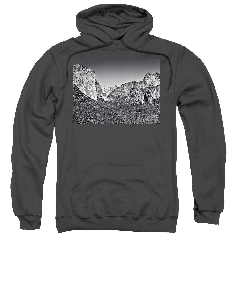 Fine Art Photography Sweatshirt featuring the photograph Yosemite Valley by John Waclo