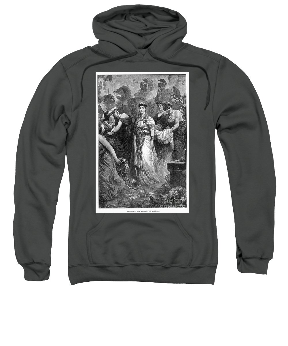 3rd Century Sweatshirt featuring the photograph Zenobia (d. After 274 A.d.) by Granger