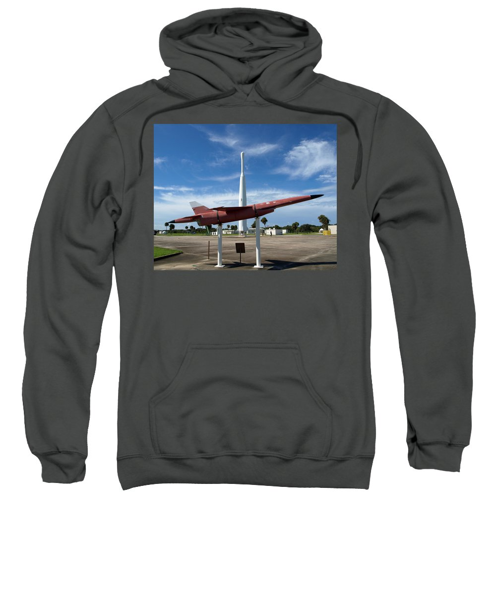 Thor; Able; Thor-able; Missle; U.s.; Airforce; Air Force; Air; Force; Cape; Canaveral; Nasa; Rocket; Sweatshirt featuring the photograph Air Force Museum At Cape Canaveral by Allan Hughes