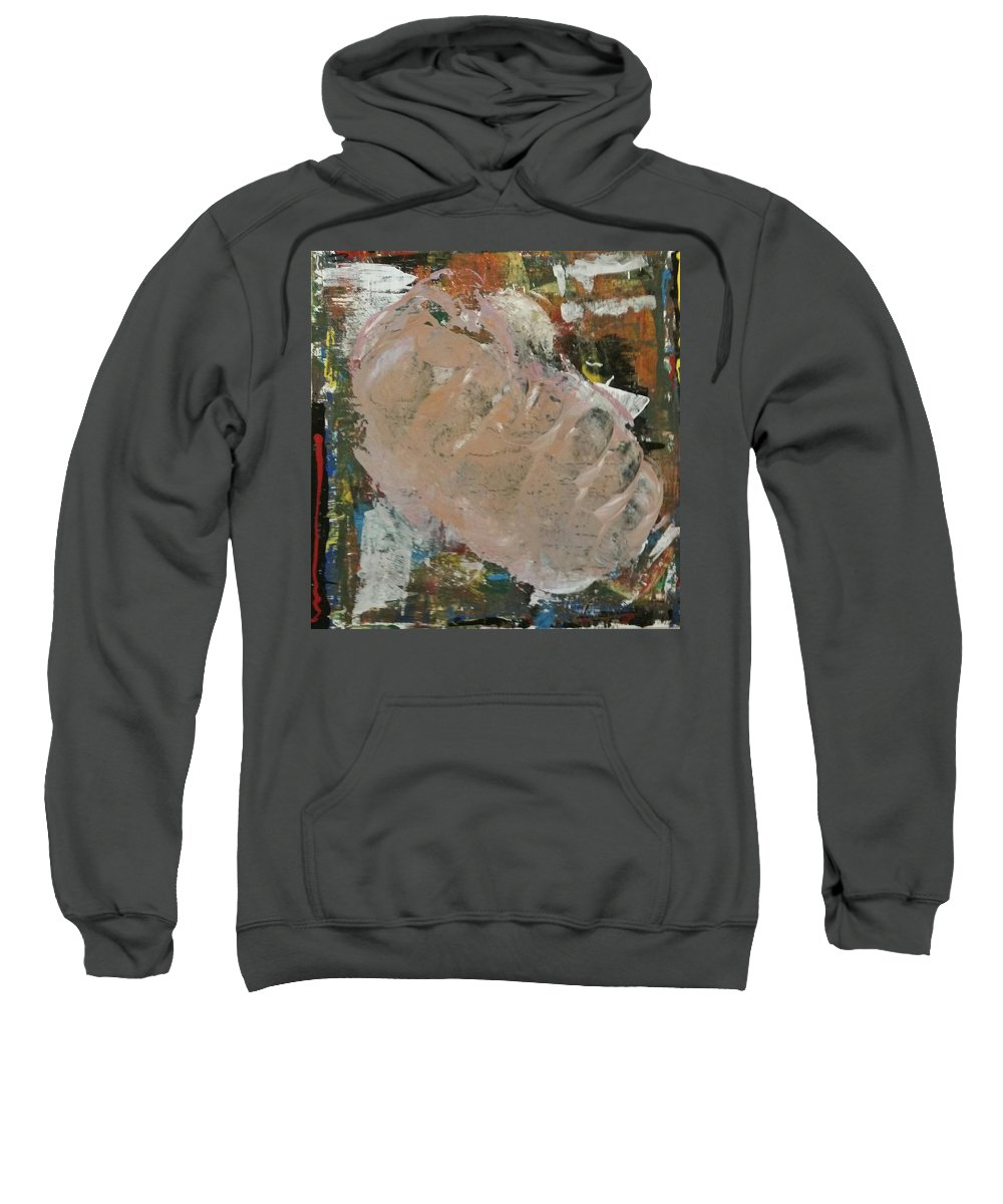 Butterfly Sweatshirt featuring the painting Birth Motion by Brandon  A Owens