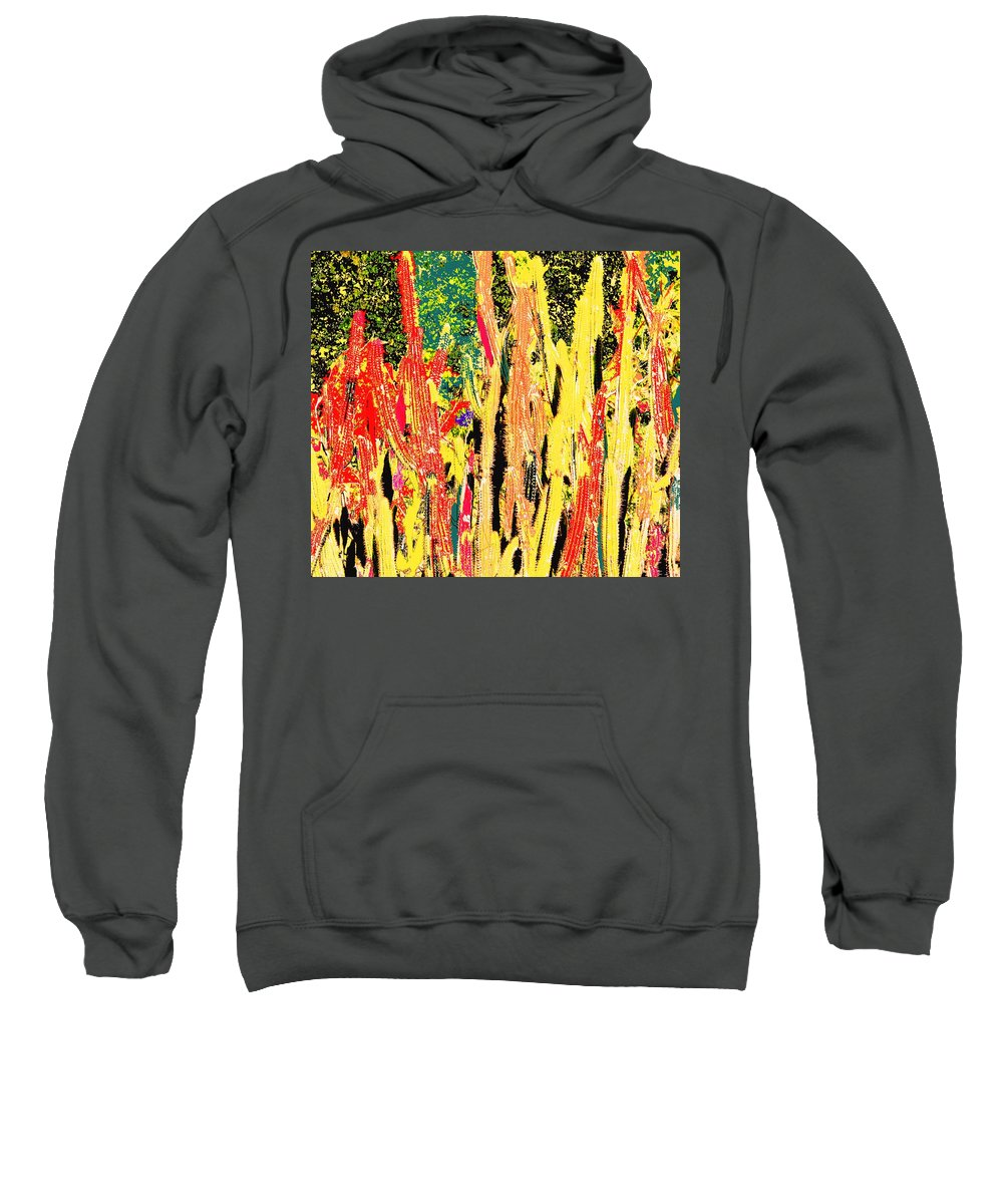 Cactus Sweatshirt featuring the digital art Bridgestone Cacti by Ian MacDonald